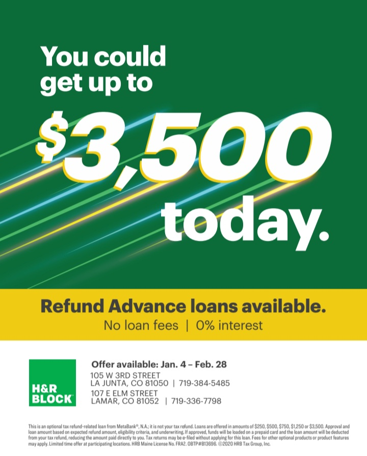 H & R Block Refund Advance Loans Print Ad SECO NEWS seconews.org